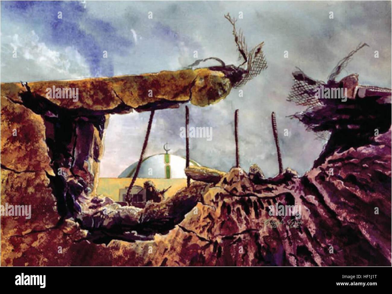 Cleaning up Khafji - Stock Image