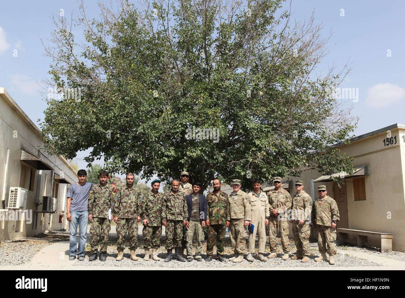U.S. Army Soldiers with 101st Airborne Division (Air Assault) and Afghan National Army soldiers from 7th Kandak Stock Photo