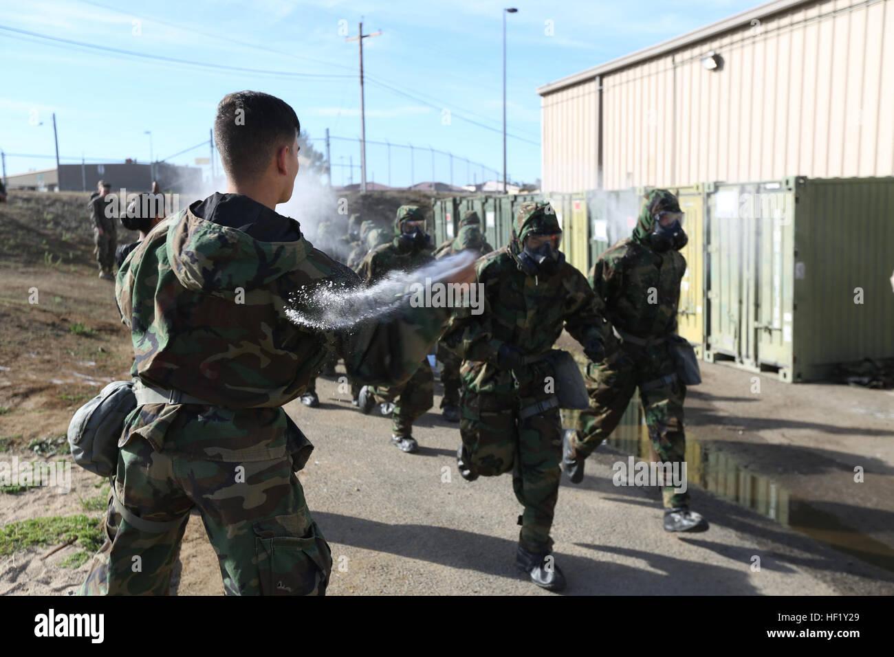 U.S. Marines with Combat Logistics Battalion 1, 1st Marine Logistics Group conduct a Reconnaissance Surveillance - Stock Image