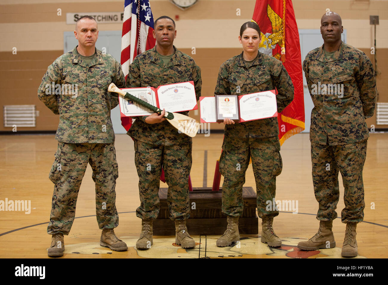 From left to right u s marine corps maj carl havens executive stock photo 129735854 alamy - Officer training school marines ...