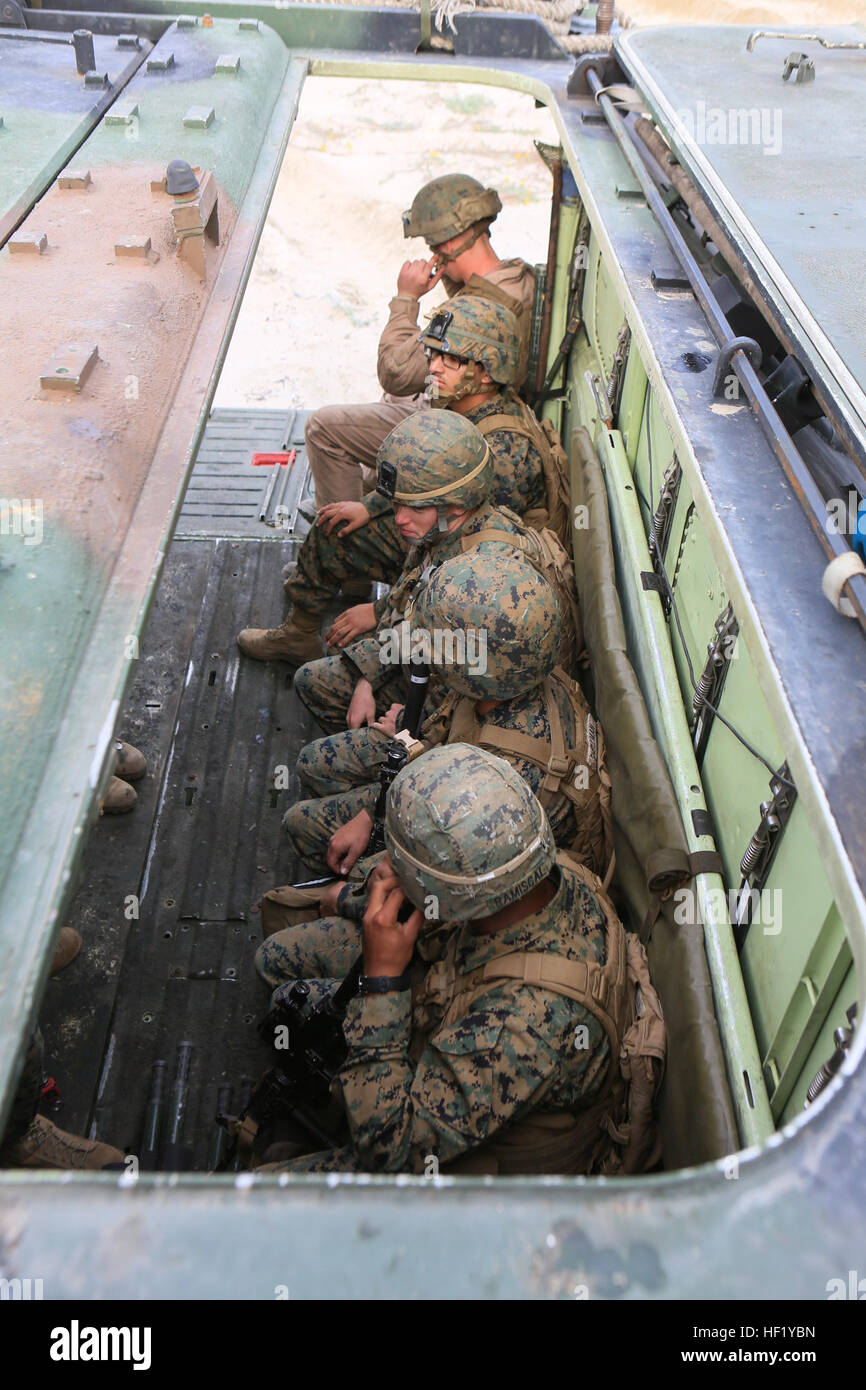 U S Marines With 3rd Assault Amphibian Battalion Transport