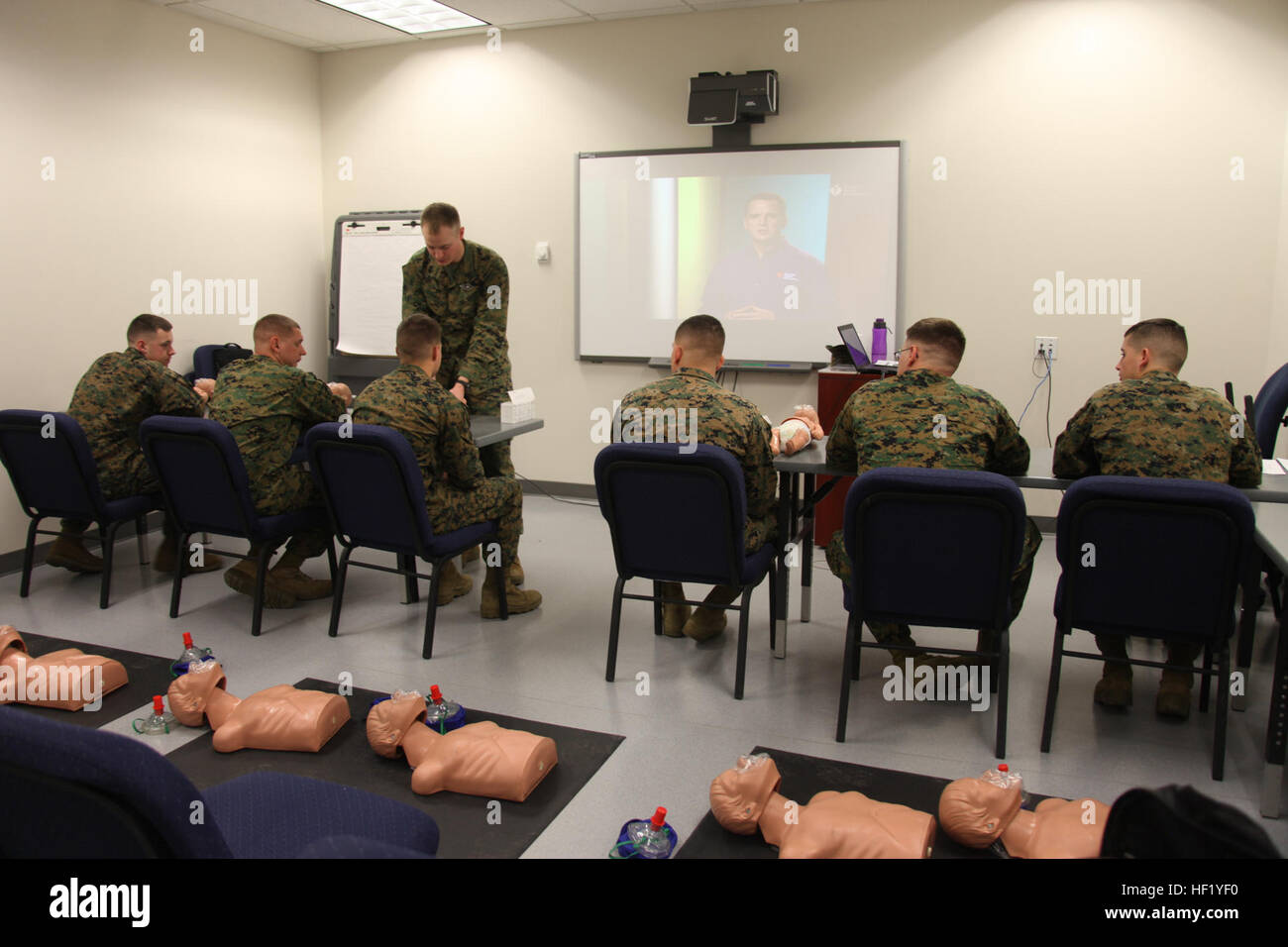 Marines With Marine Tactical Air Command Squadron 28 Attend A Cpr