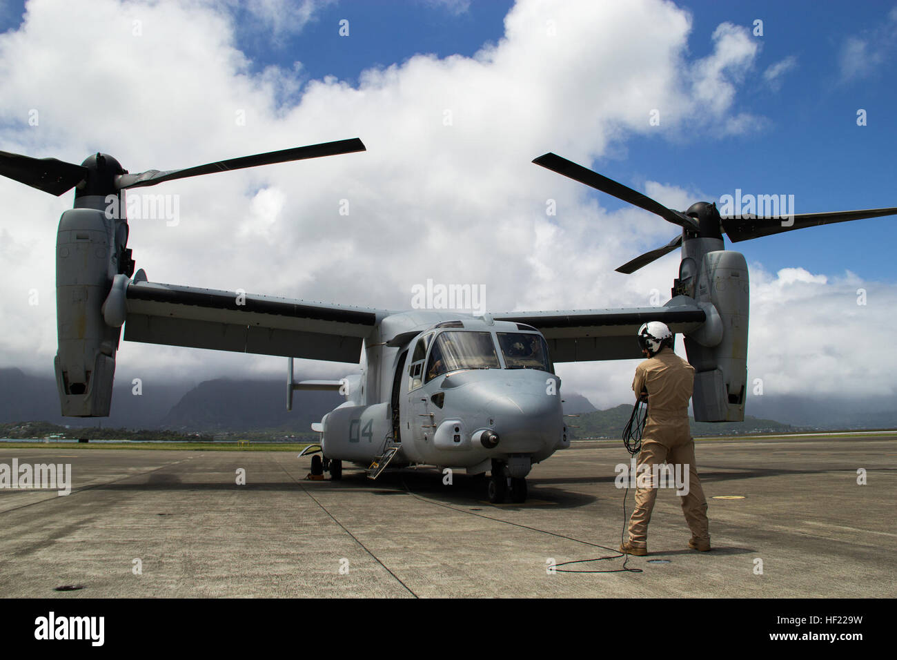 Pfc. Matthew Coats, a crew chief with Marine Medium Tiltrotor Squadron 161, and a 20-year-old native of San Antonio, Stock Photo