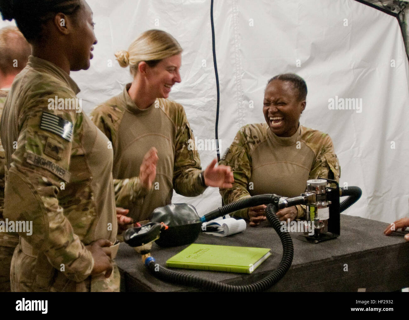 Capt. Dianne James (right), a native of Kingston, Jamaica, who serves as an operating room nurse and officer in - Stock Image
