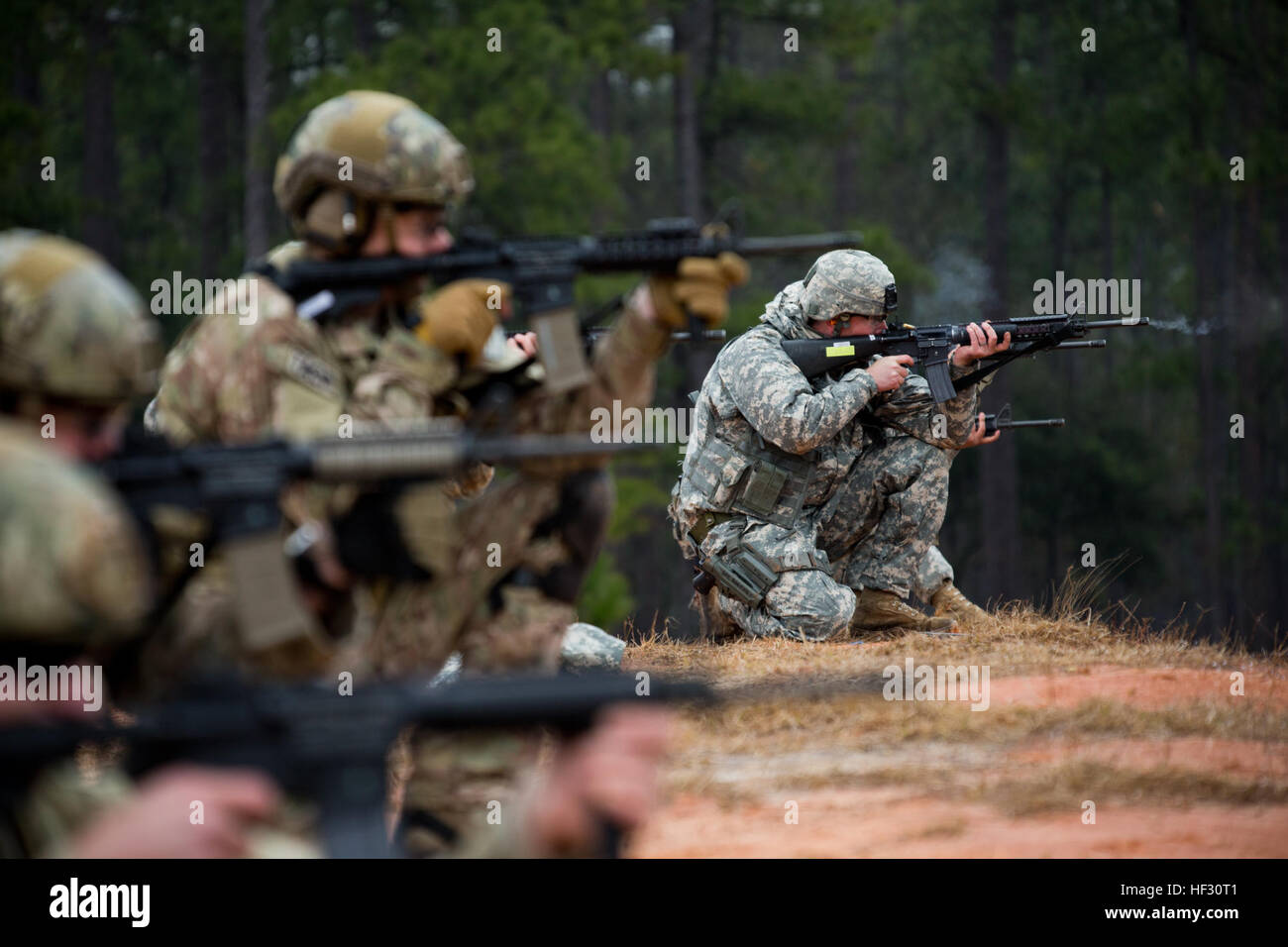 The Georgia National Guard's 2015 Andrew Sullens Marksmanship Competition at Fort Stewart, Ga. wrapped its second - Stock Image