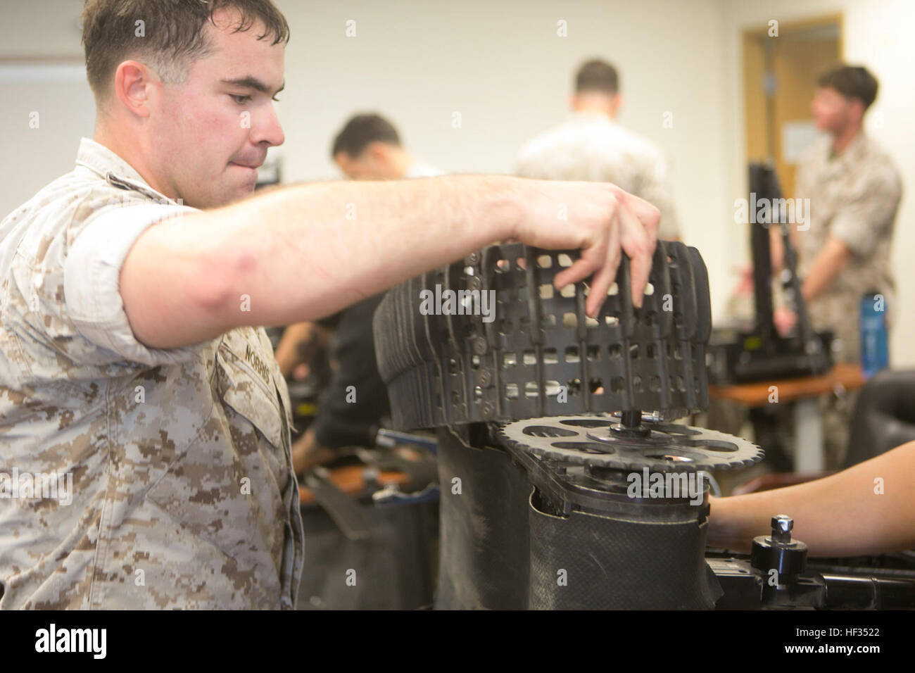 Sergeant Jacoby Norris, an explosive ordnance disposal technician with 2nd EOD Company, 8th Engineering Support - Stock Image