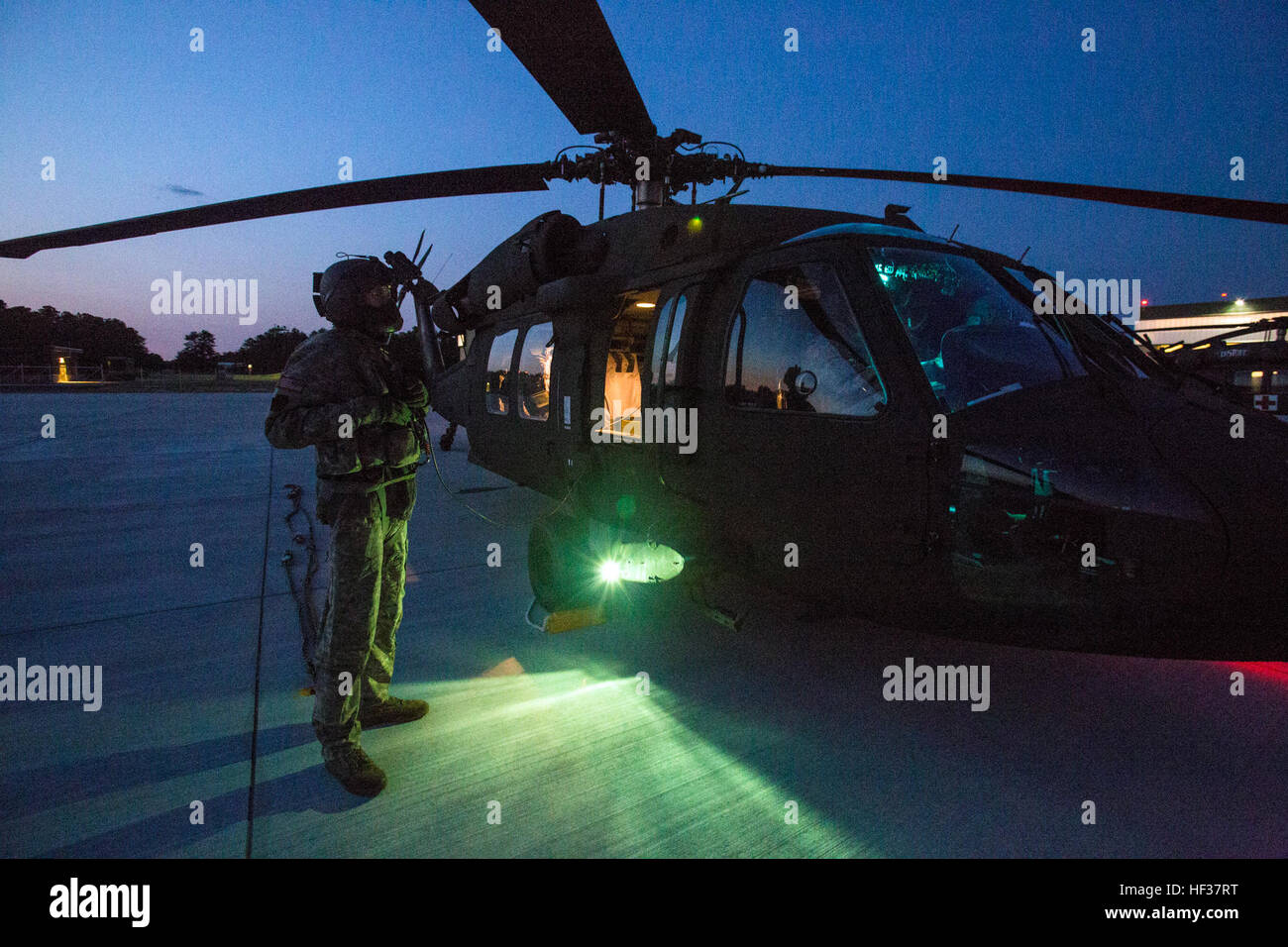 A UH-60 Black Hawk crew chief with the 1-150th Assault Helicopter Battalion 456c70566