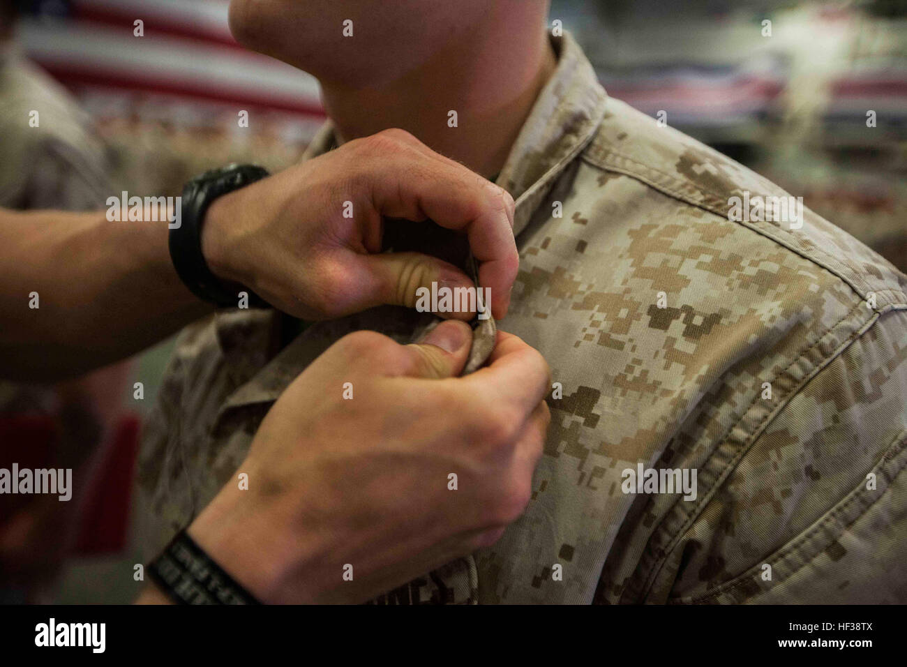 During A Ceremony Aboard Marine Corps Base Camp Lejeune Stock Photos ...