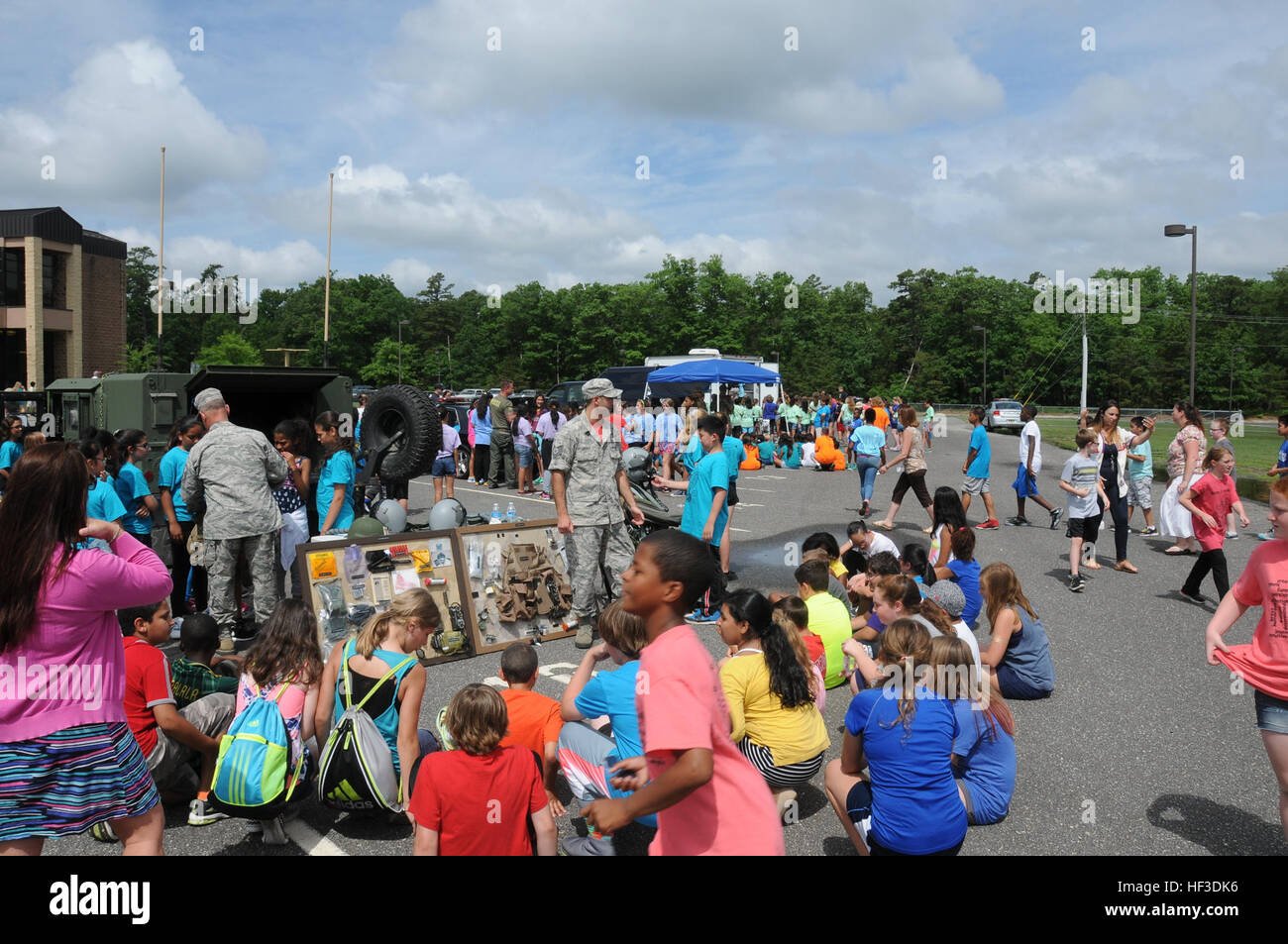 Members from the New Jersey Air National Guard's 177th Fighter Wing came together with Egg Harbor Township Police, - Stock Image