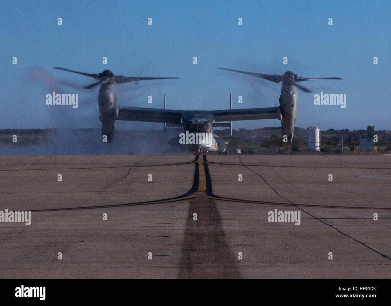 Colonel Anthony Bianca, commanding officer of Marine Aircraft Group (MAG) 16, taxis on the flight line following Stock Photo