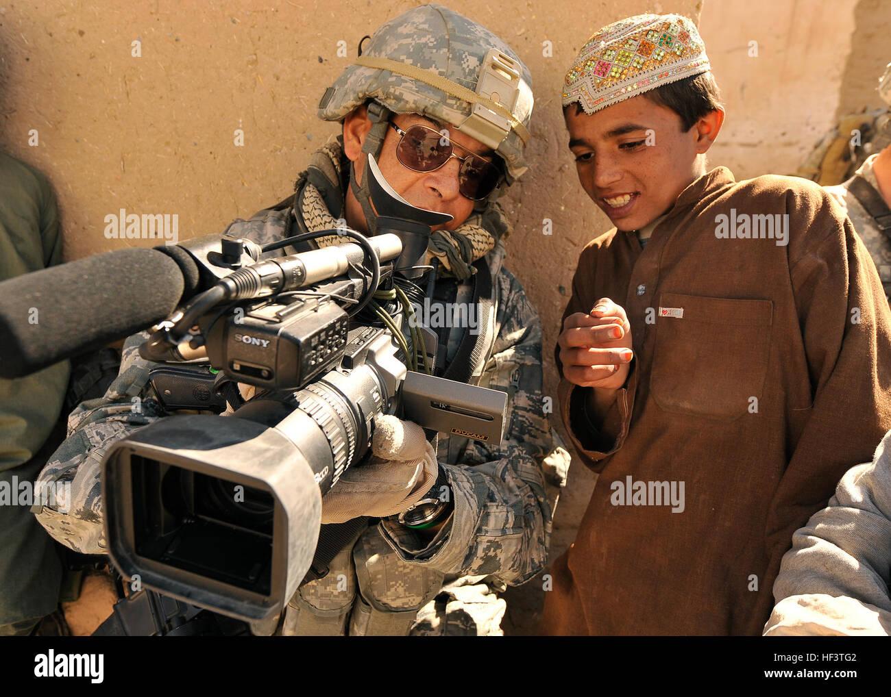 U S  Air Force Master Sgt  Robert Carreon, a videographer
