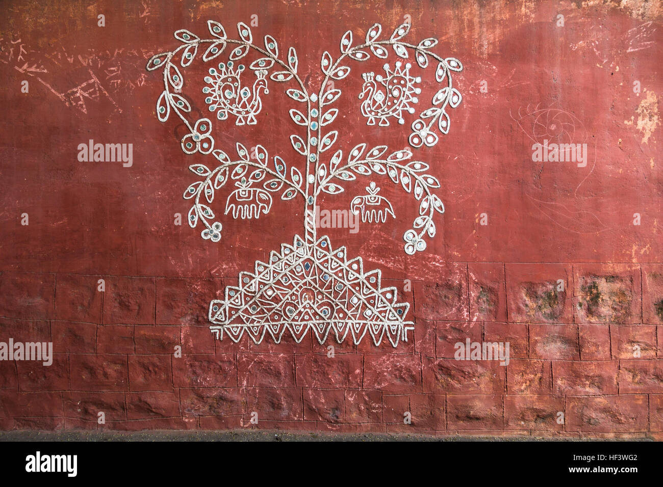 HYDERABAD INDIA - DECEMBER 242016 Traditional Indian Wall Art by Unknown artist in HyderabadIndia & HYDERABAD INDIA - DECEMBER 242016 Traditional Indian Wall Art by ...