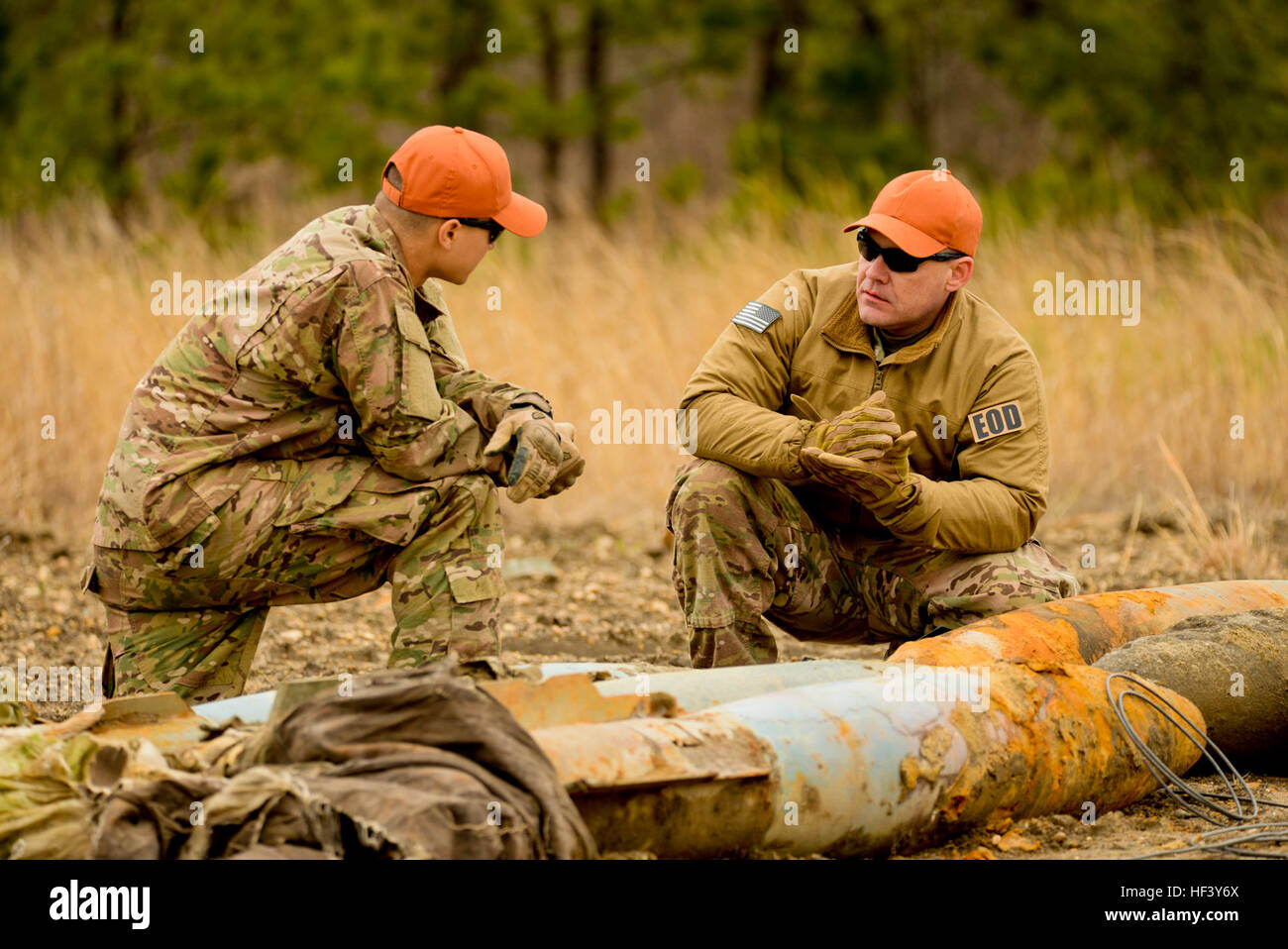 From right, U.S. Air Force Master Sgt. Raymond Wayne, Explosives Ordnance  Disposal (