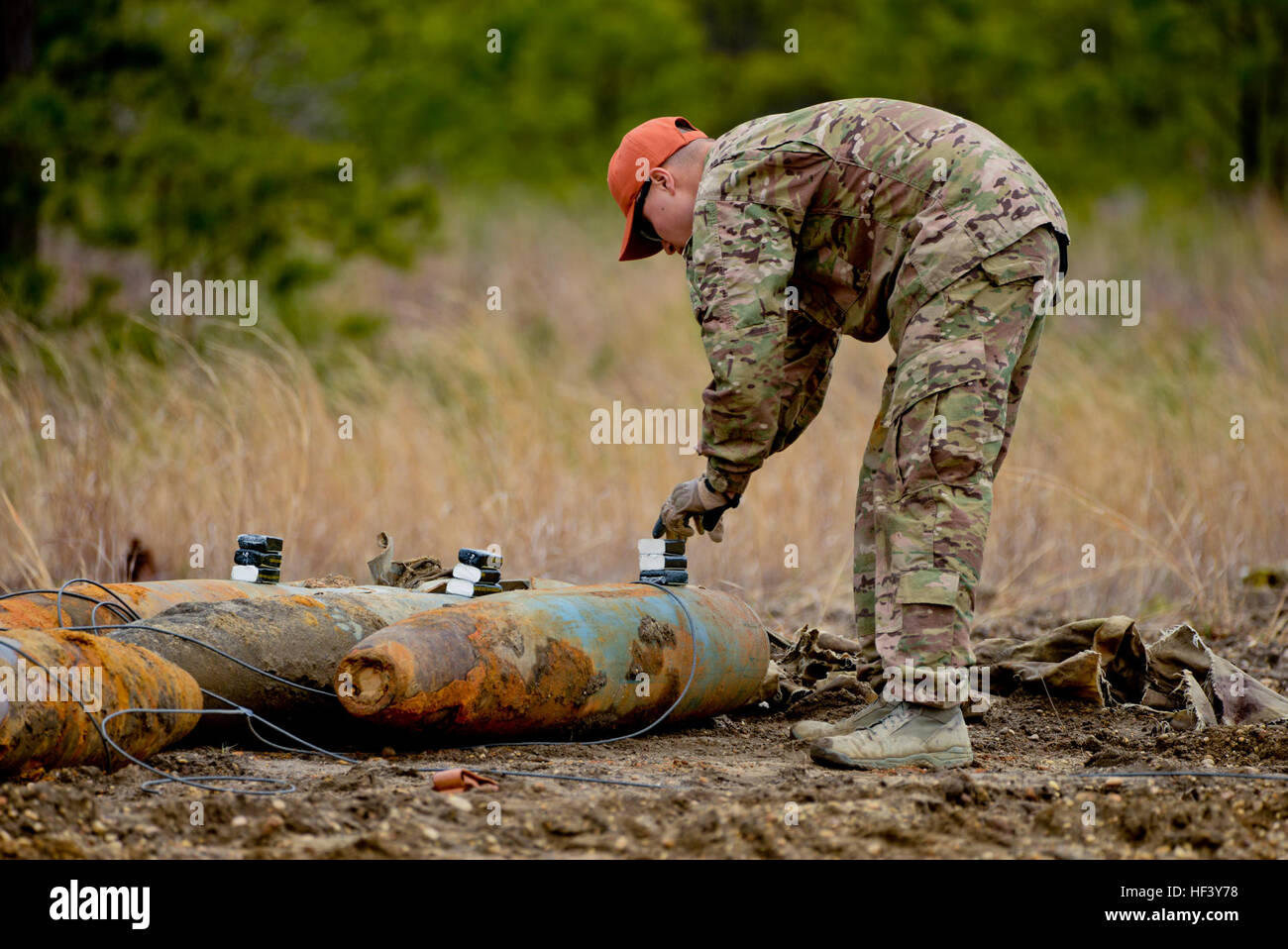 U.S. Air Force Airman 1st Class Michael Glisan, Explosives Ordnance  Disposal Technician with the 87th