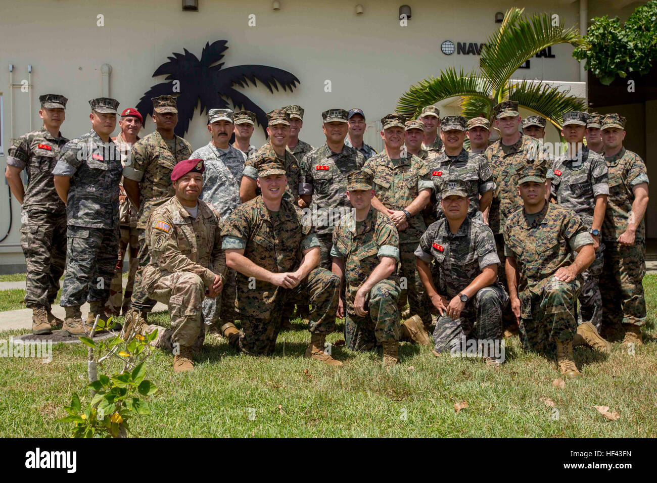 members of 3d civil affairs group 3d cag a subordinate command of force headquarters group fhg pose for a photo with their staff counterparts during ulchi freedom guardian 2016 ufg 16 at