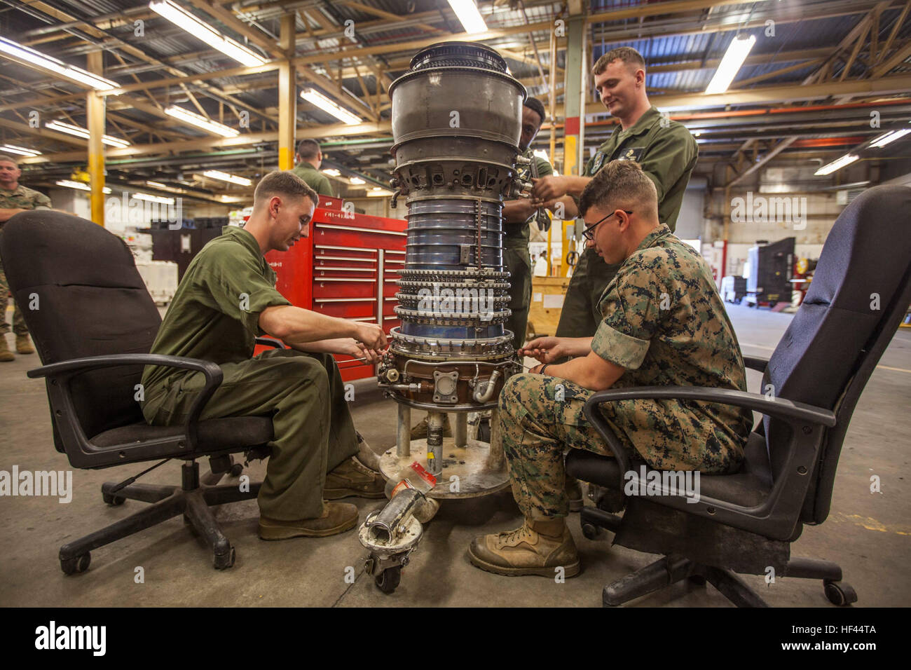 u s  marines corps helicopter power plant mechanics assigned to stock photo  129784042