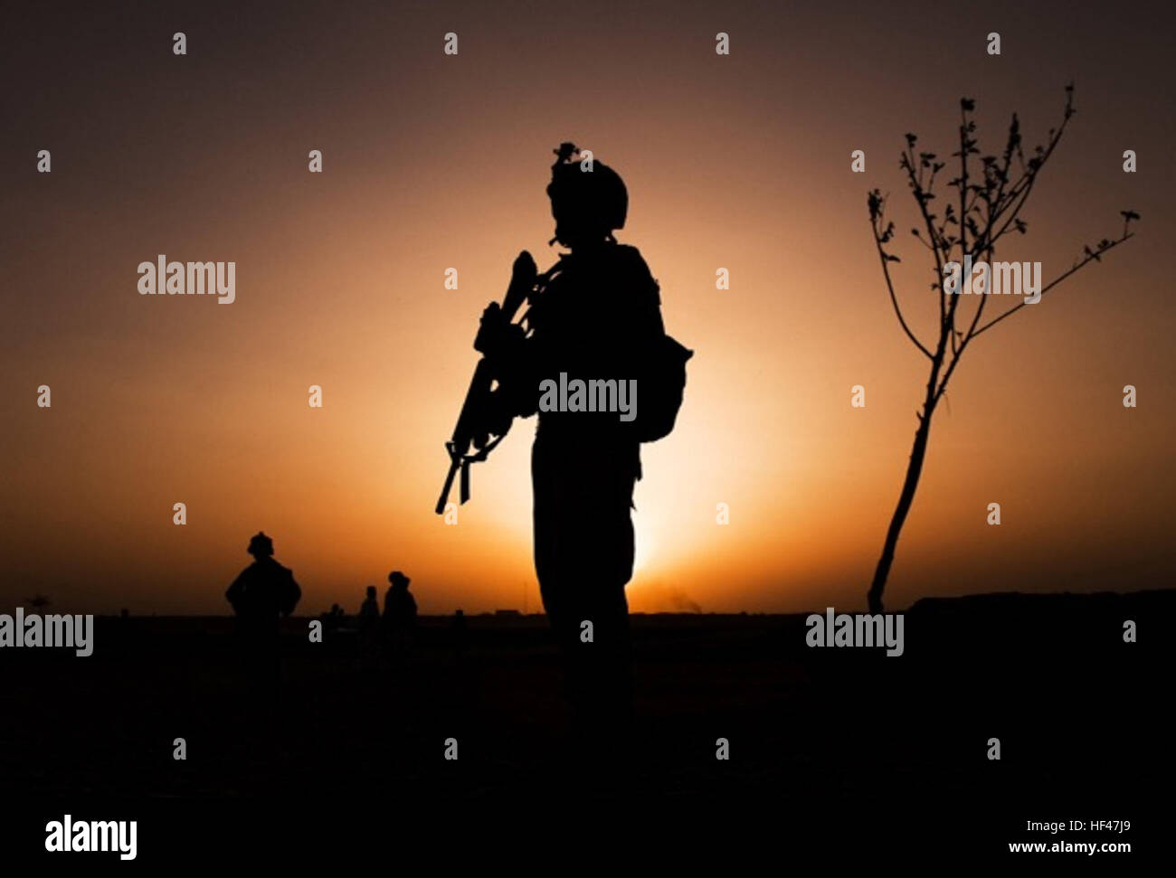 Flickr - DVIDSHUB - Birth of a Motto, in Helmand Province, 3-3 H5ES Marines Prove Their Versatility, Mettle - Stock Image