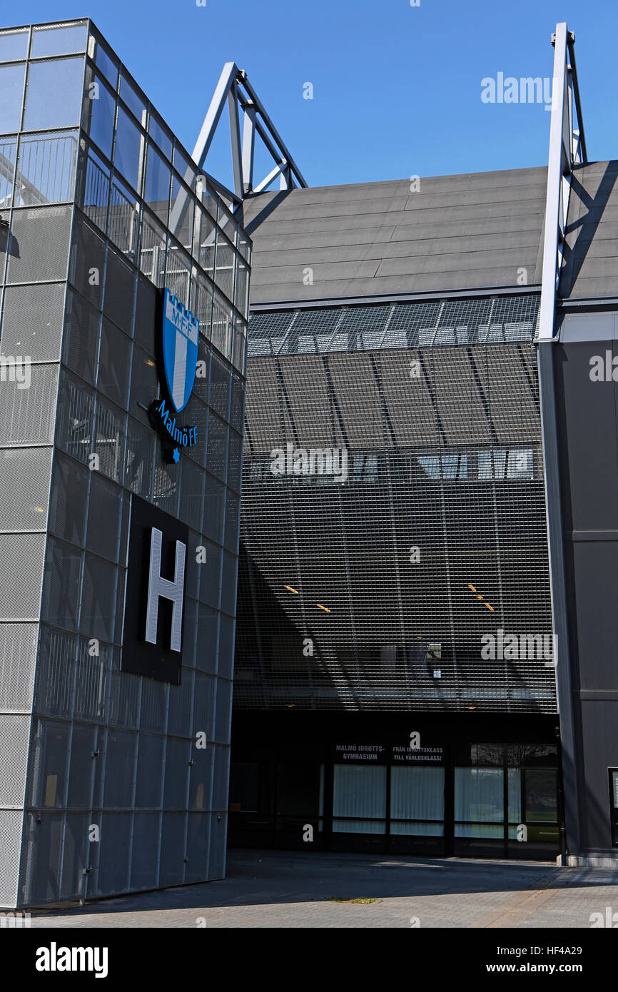 MALMO, SWEDEN - MAY 01, 2015, Malmo FF is a professional football club, based on Swedbank Stadion at Malmo - Stock Image