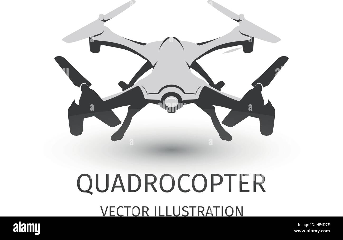 Isolated rc drone logo on white. UAV technology logotype. Unmanned ...