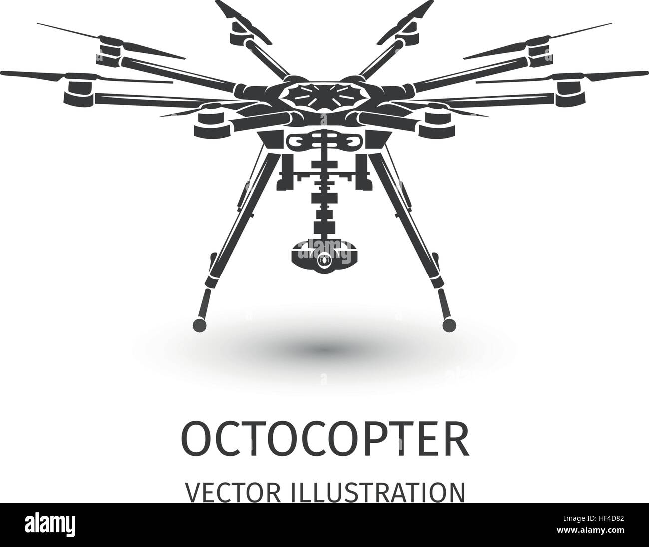 Isolated Rc Drone Logo On White UAV Technology Logotype Unmanned Aerial Vehicle Icon Remote Control Device Sign Surveillance Vision Multirotor