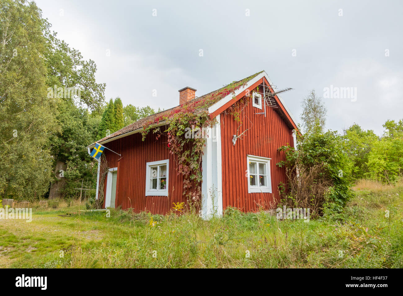 This is a late 17th cetury soldiers house, part of the Swedish military croft system that was in use until  begining - Stock Image