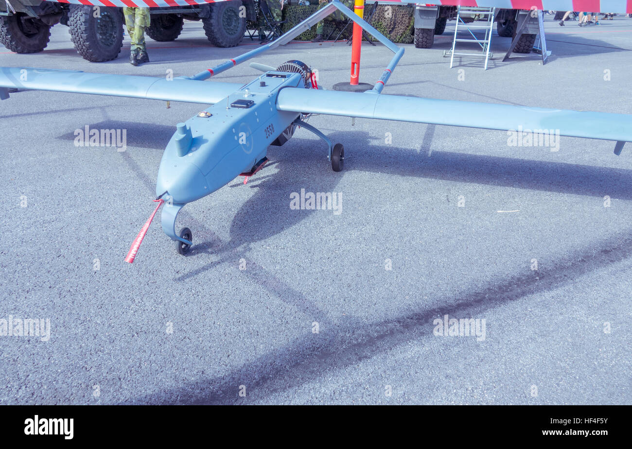 UAV 03 Ornen is one of the Swedish military drones - Stock Image