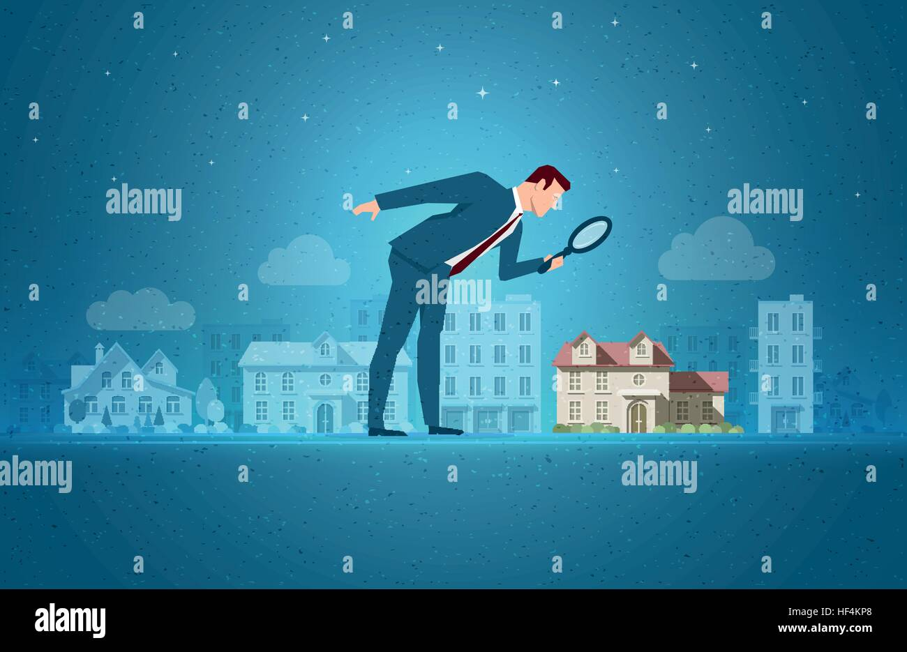 Business concept vector illustration. Investing, real estate, investment opportunity concept. Elements are layered - Stock Vector