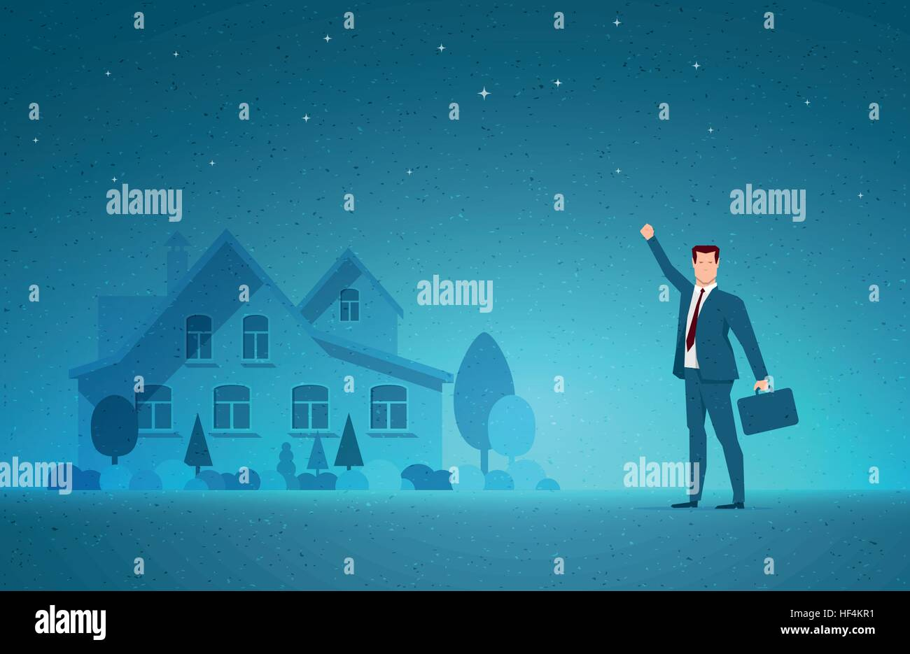 Business concept vector illustration. Investing, real estate, investment opportunity, selling or buying concept. - Stock Vector