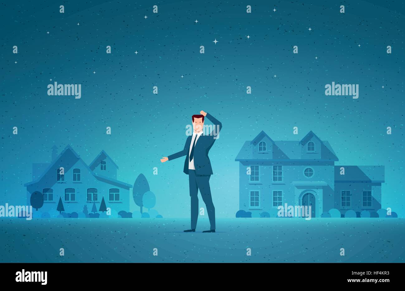 Business concept vector illustration. Real estate, investment opportunity, choice and to decide concept. Elements - Stock Vector