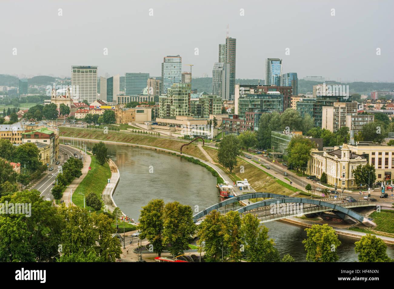 Cityscape of Vilnius (Lithuania), HDR-technique Stock Photo
