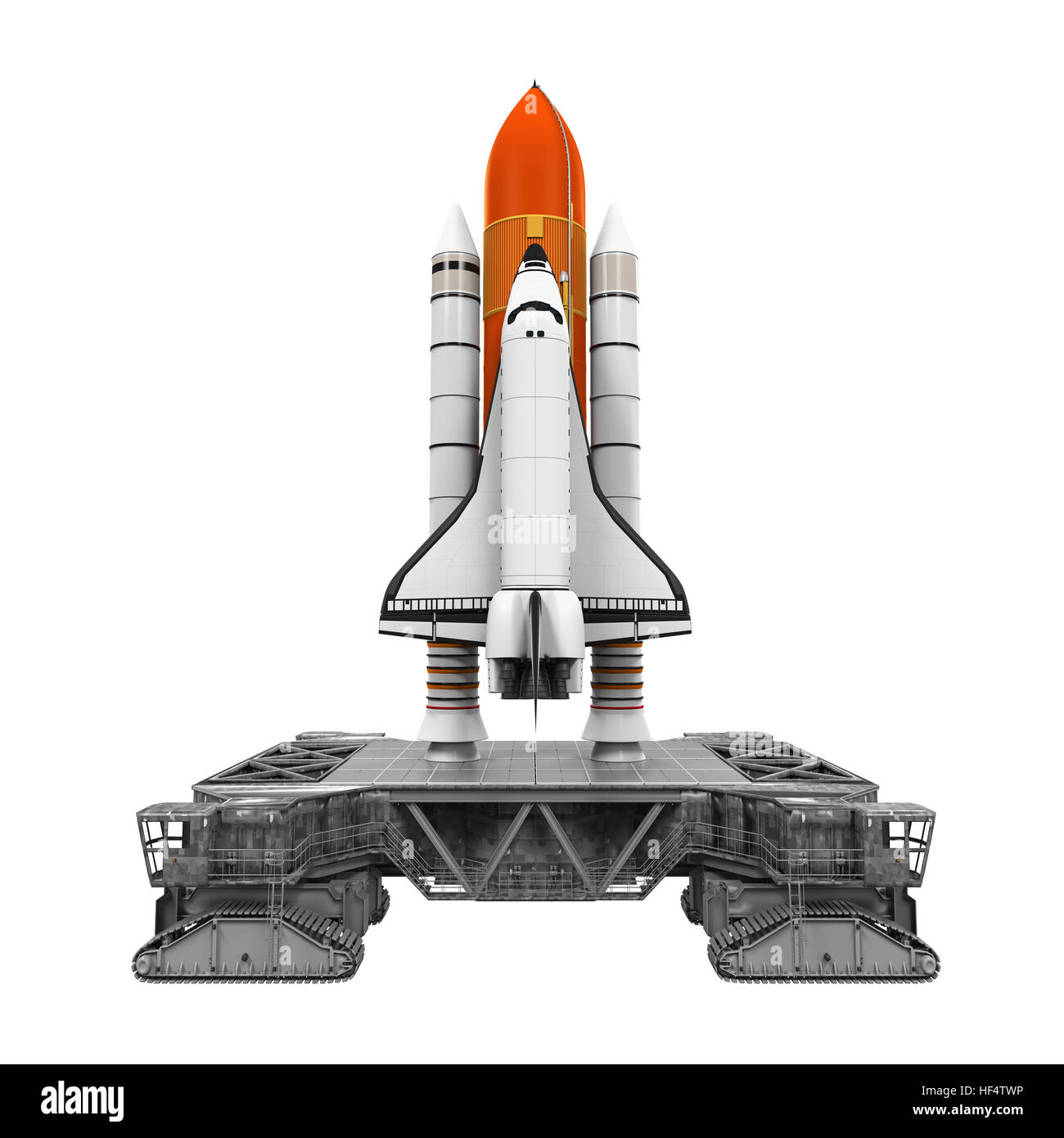 Space Shuttle and Mobile Launcher Platform - Stock Image