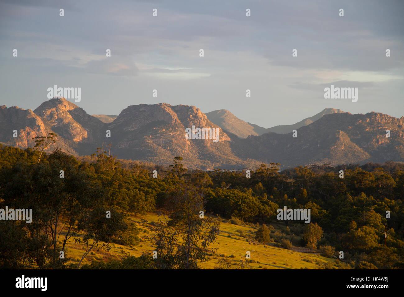 View of the Hazards mountain range - Stock Image