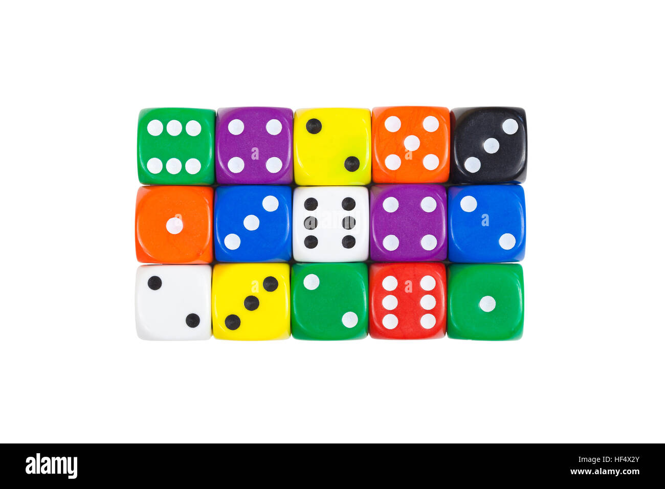 Colorful dice - Stock Image