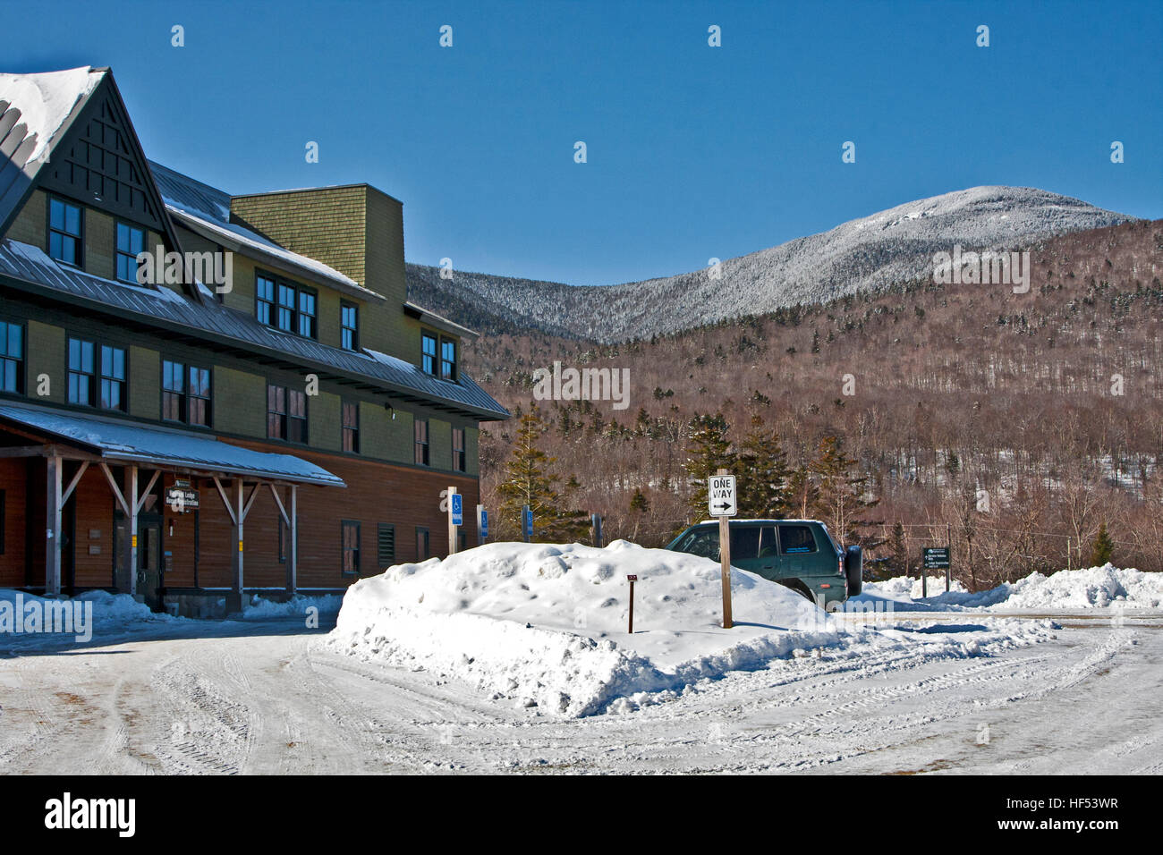 The Appalachian Mountain Club Highland Center at Crawford Notch, New Hampshire, USA, The AMC Highland Center, Mount Stock Photo
