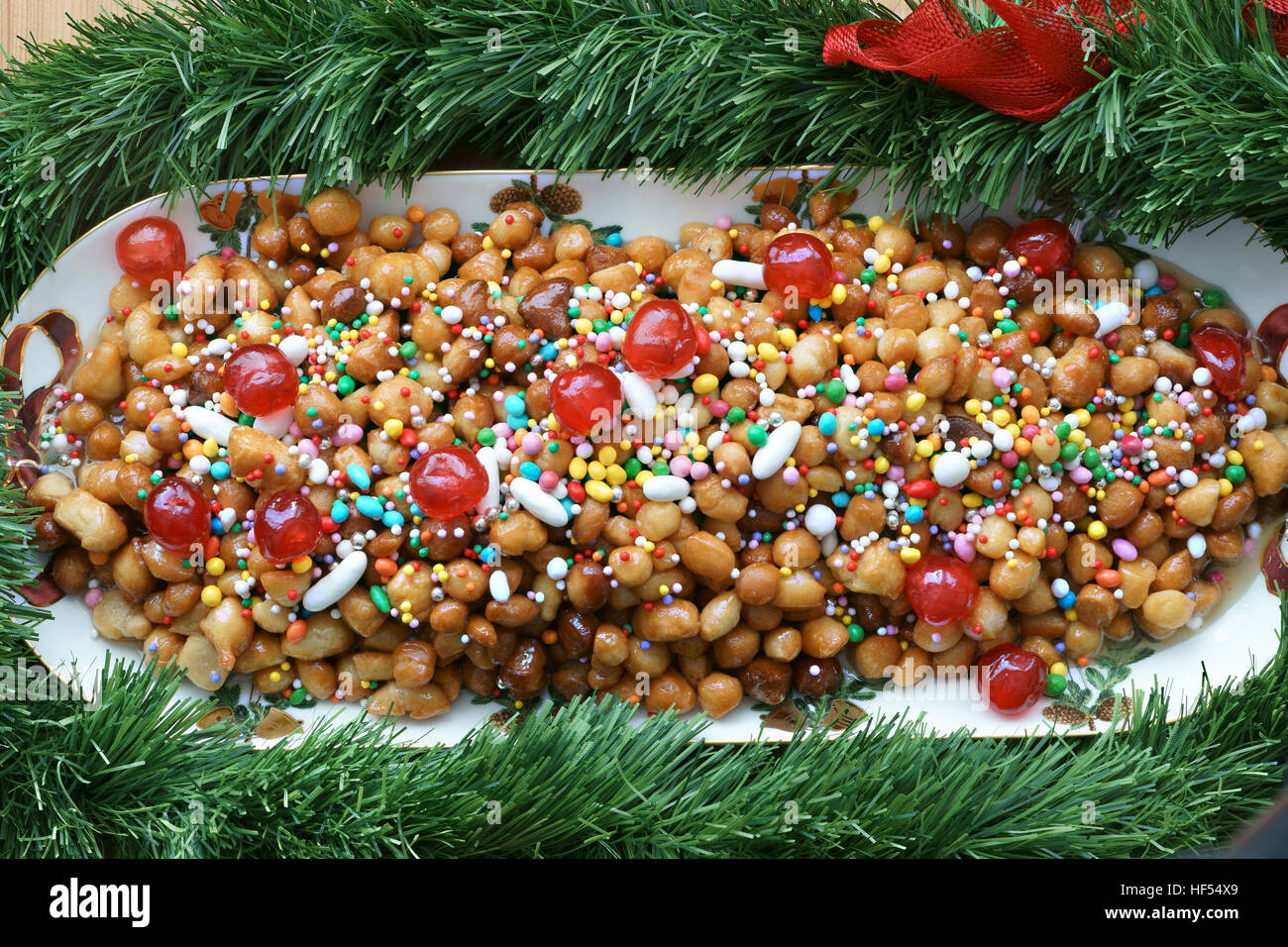 Struffili, neapolitan tipical xmas cake Stock Photo