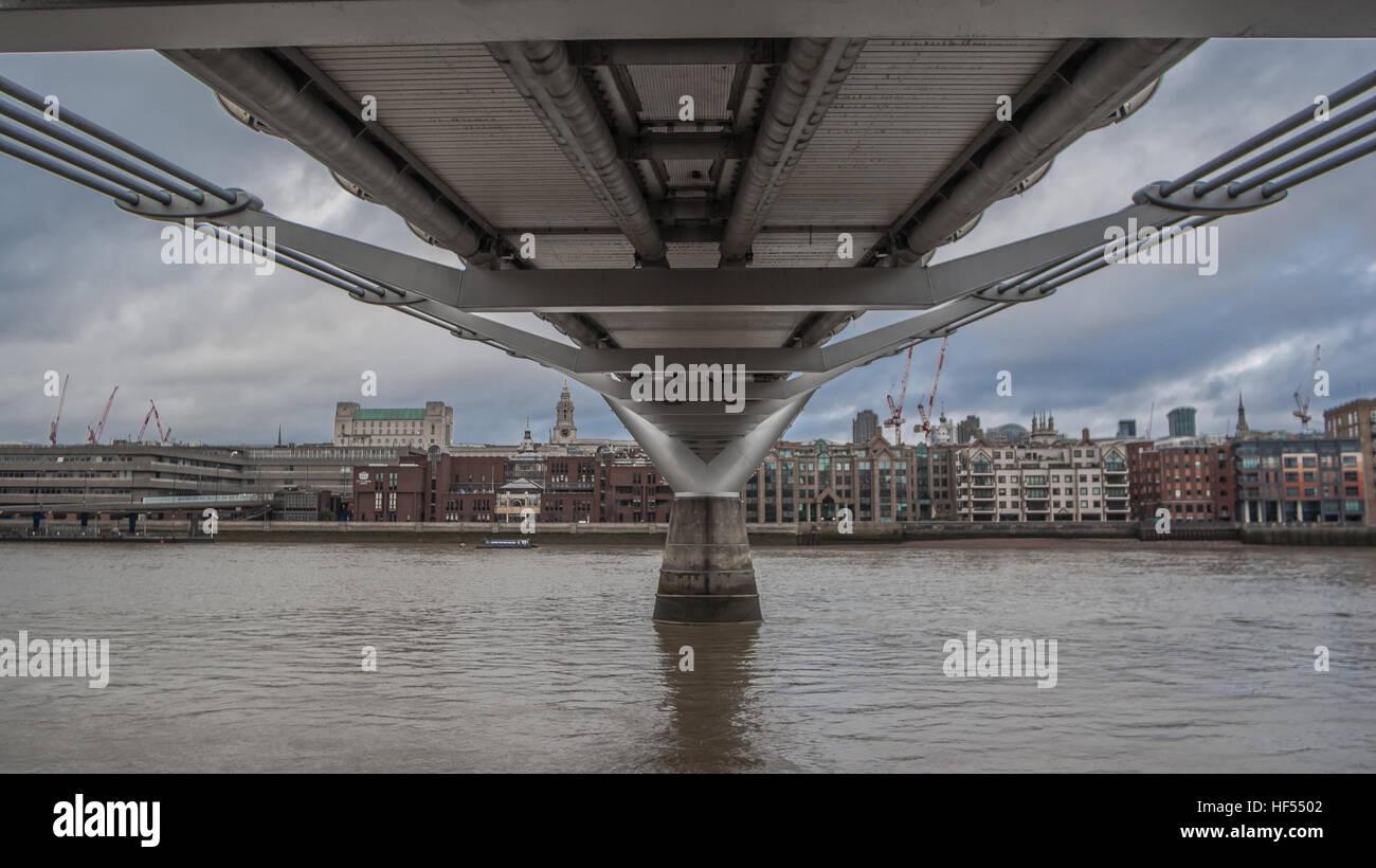 Shot of Millennium Bridge - Stock Image