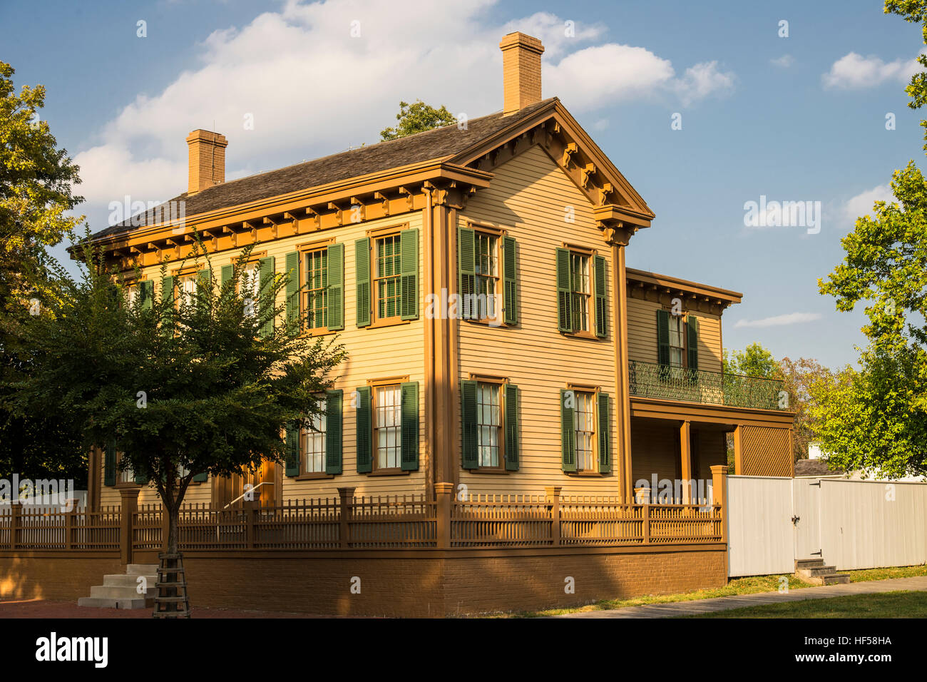 Abraham Lincoln home in Springfield, Illinois. - Stock Image