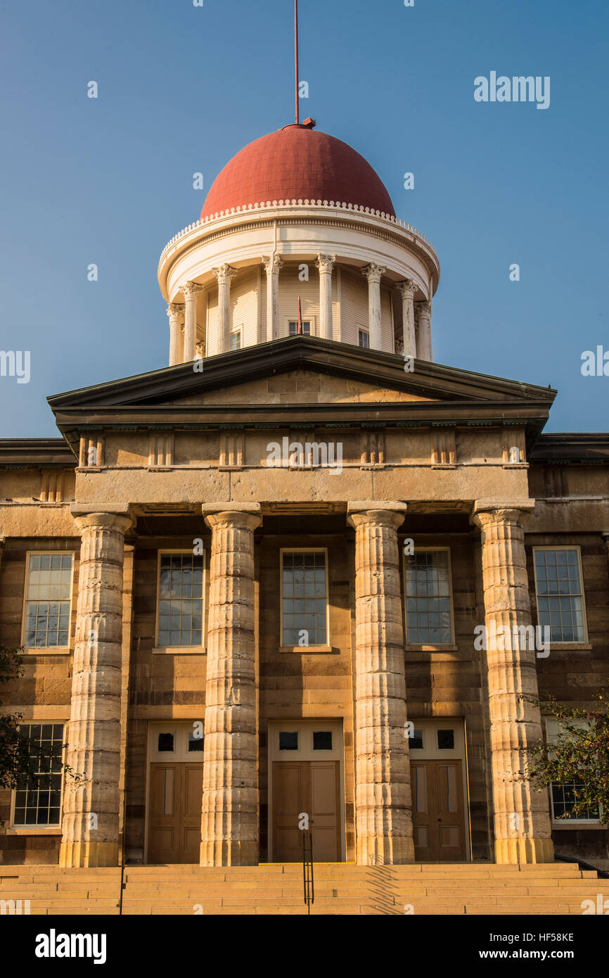 Illinois Old State Capitol building - Stock Image