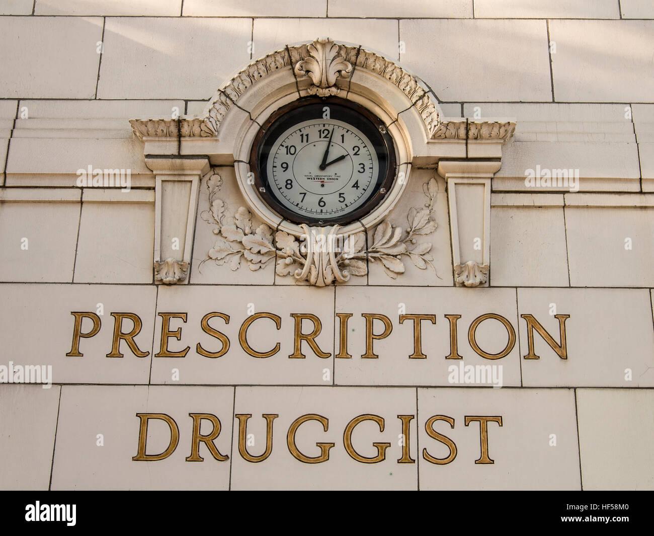 Broadwell's Drugstore Springfield, Illinois. - Stock Image