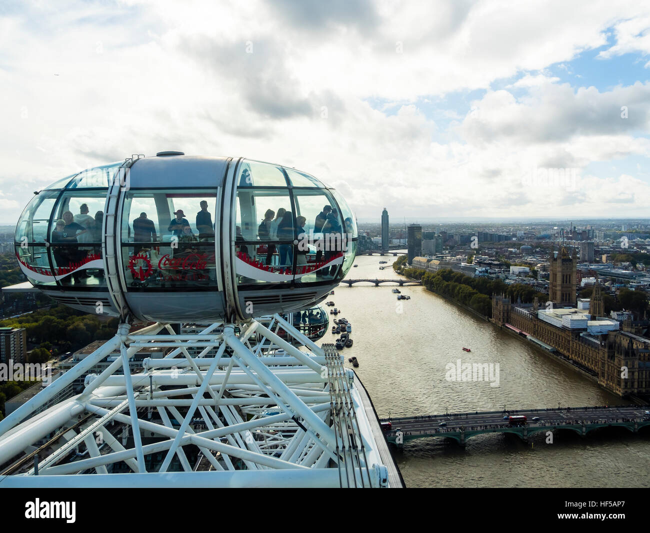 Capsules, London Eye, London, England, United Kingdom - Stock Image
