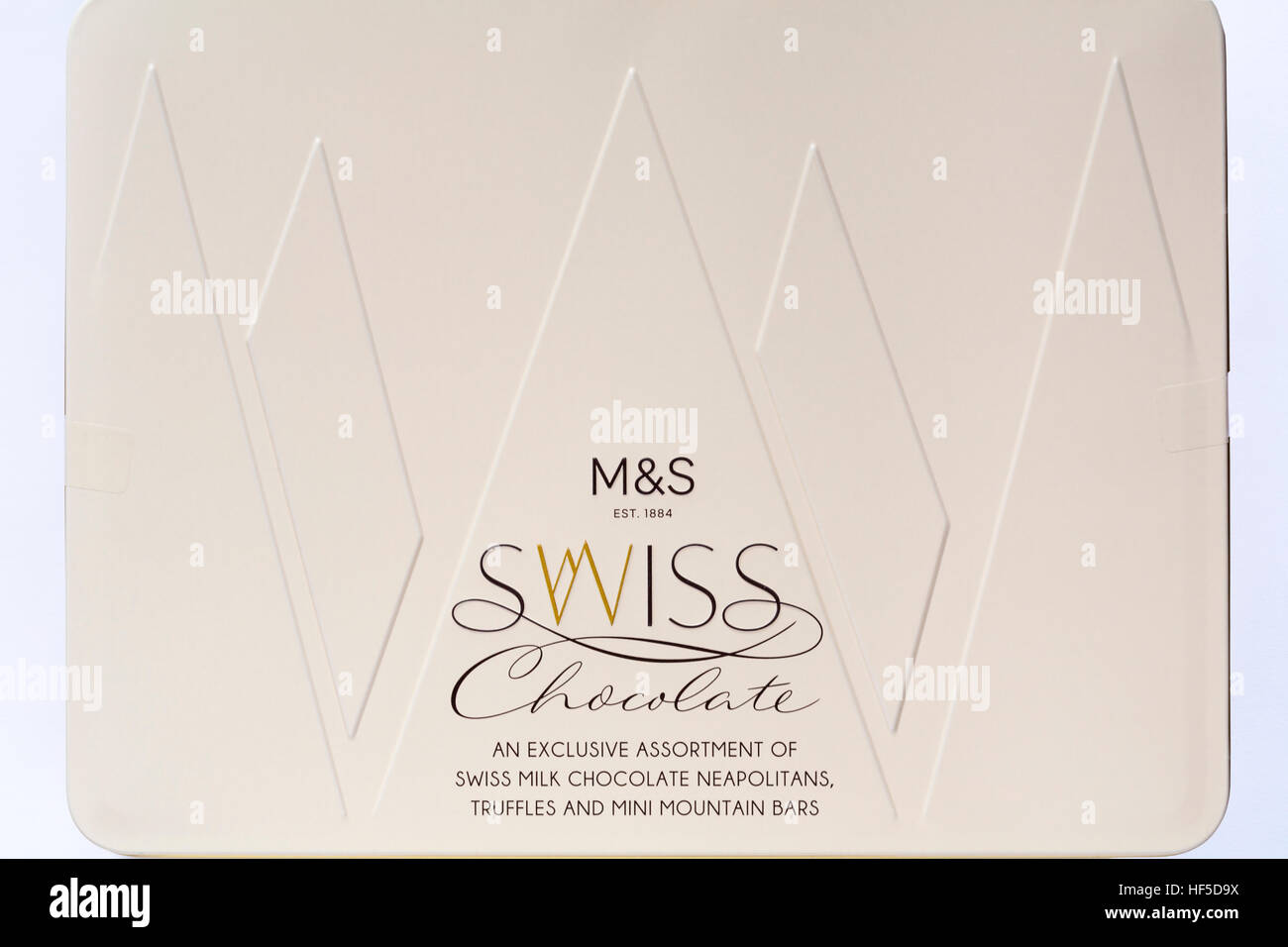 Tin Of Ms Swiss Chocolate An Exclusive Assortment Of Swiss