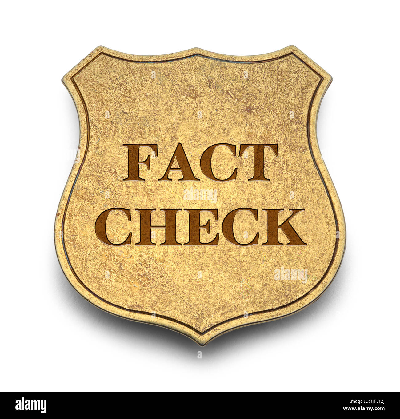 Fact Check Badge Isolated on White Background. - Stock Image