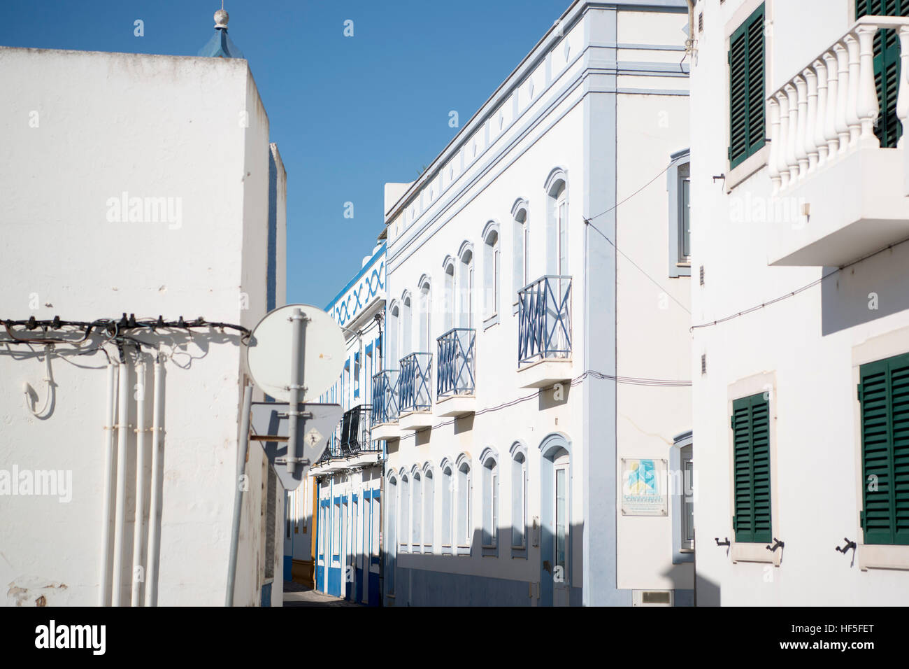 the town of Santa Luzia in the Algarve in the south of Portugal in Europe. Stock Photo