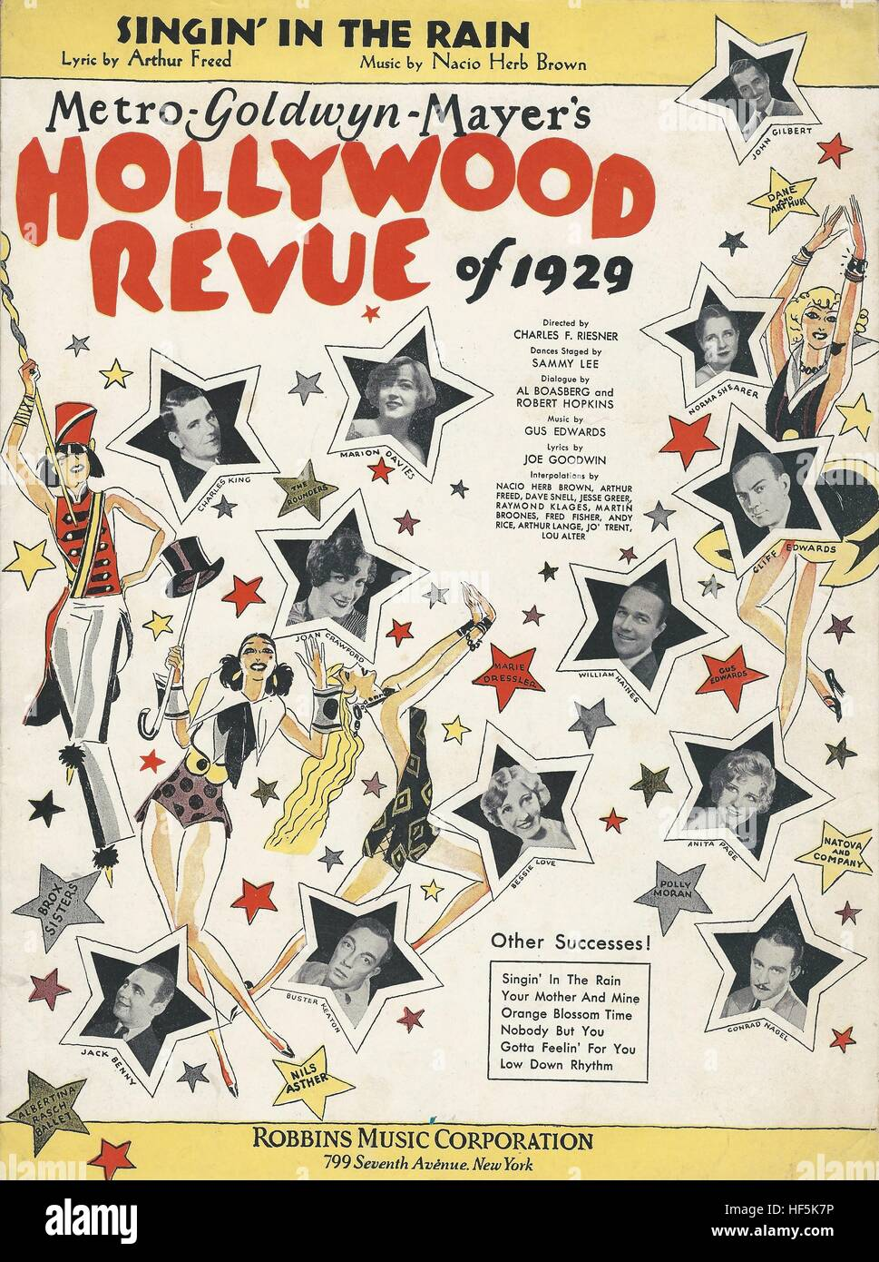 'Hollywood Revue of 1929' 1929 movie Sheet Music Cover - Stock Image