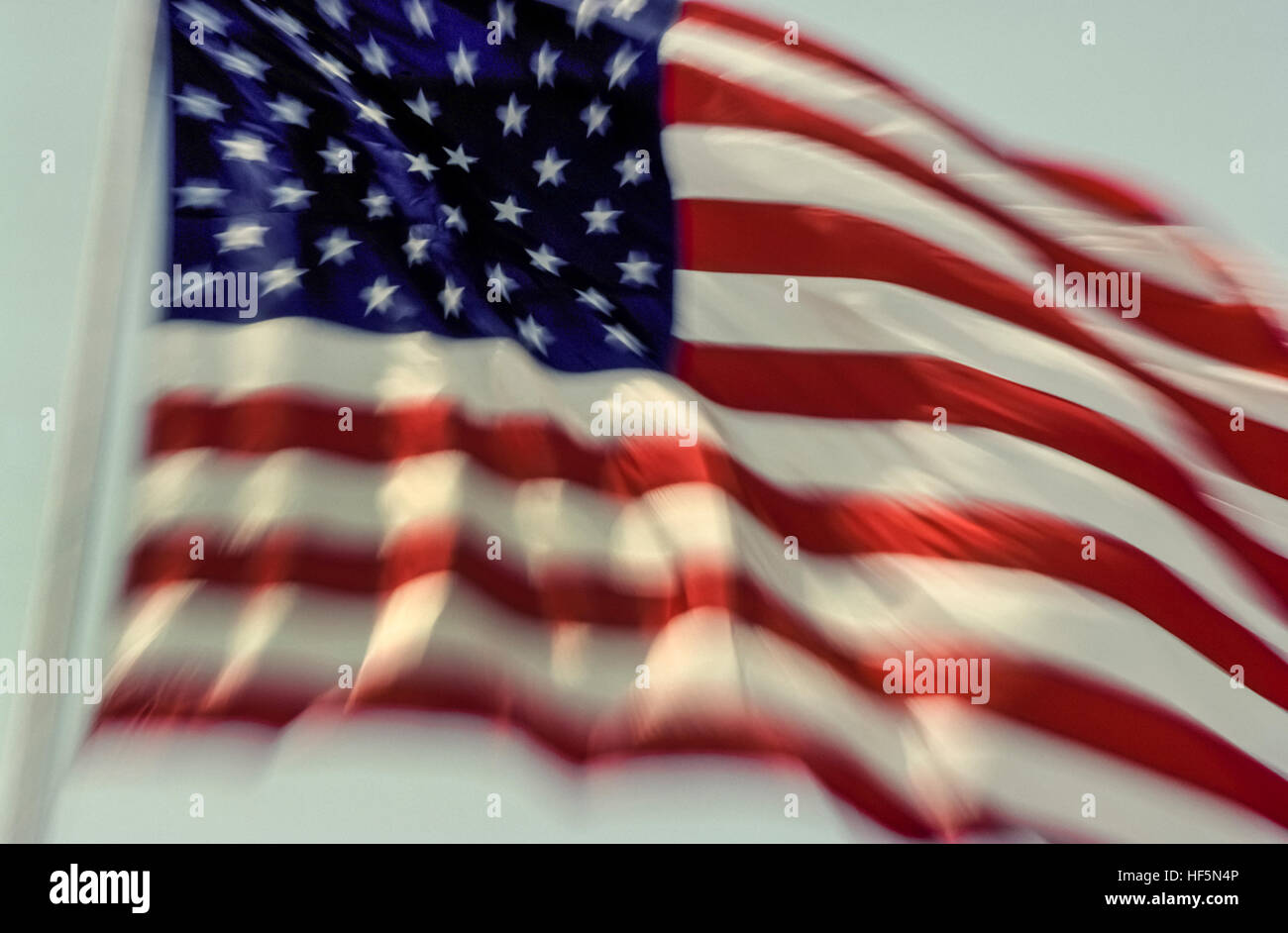 The national flag of the United States of America is known variously as the American flag, The Stars and Stripes, - Stock Image