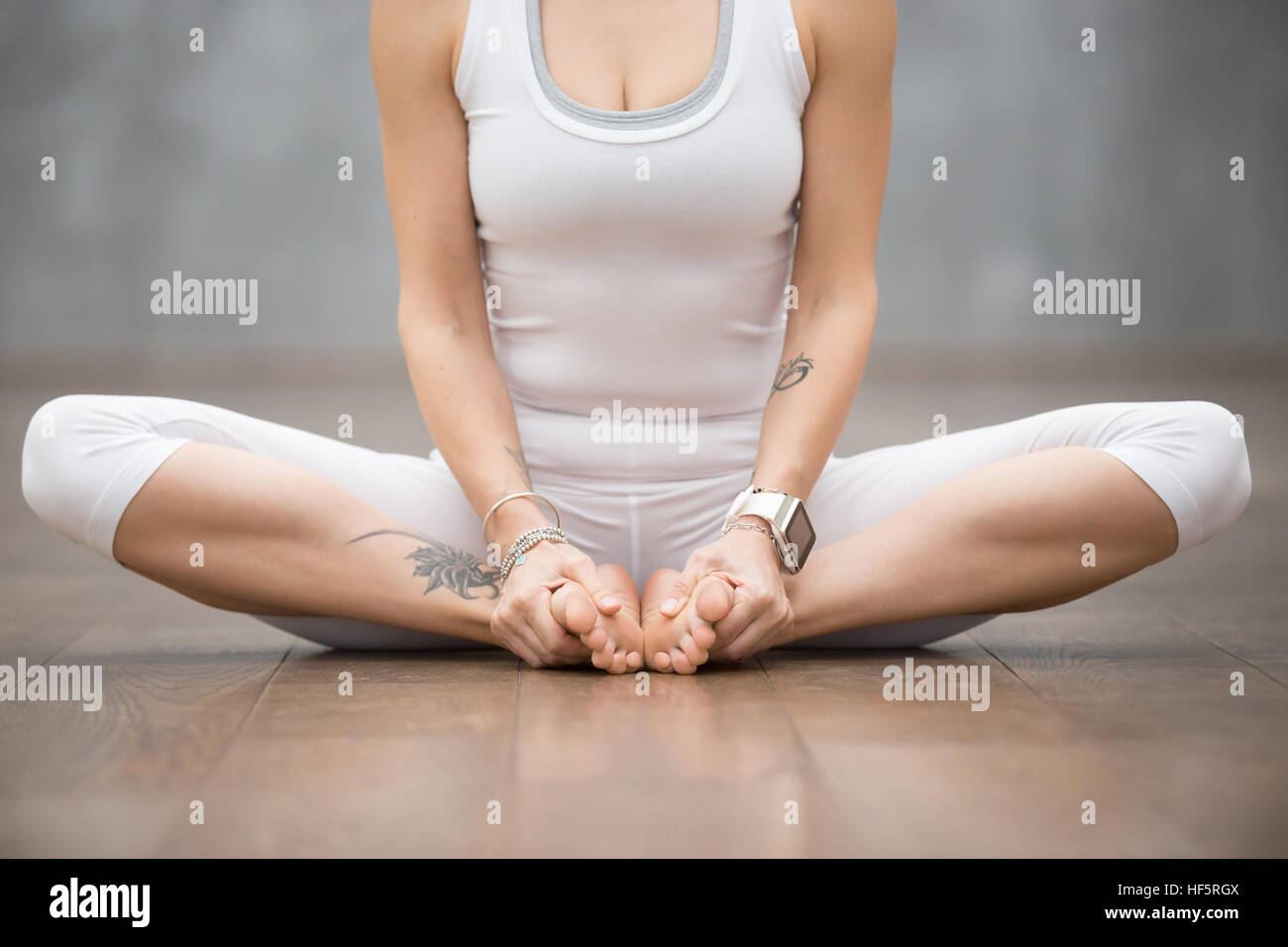 Beautiful Yoga Butterfly Pose