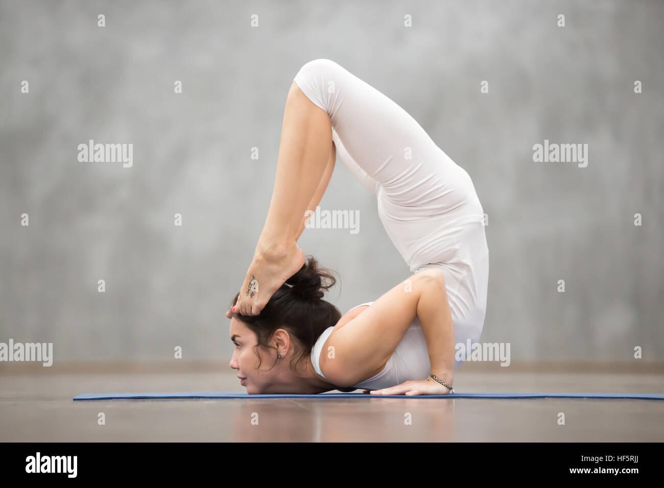 Beautiful Yoga Ganda Bherundasana Pose Stock Photo Alamy