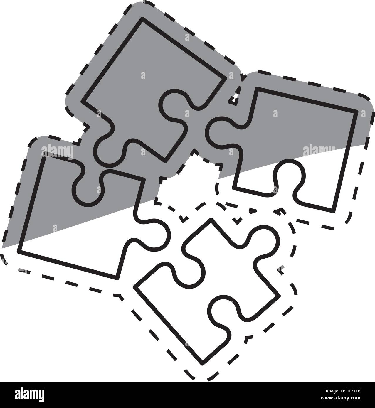 Puzzle Pieces Concept Icon Vector Stock Photos & Puzzle Pieces ...
