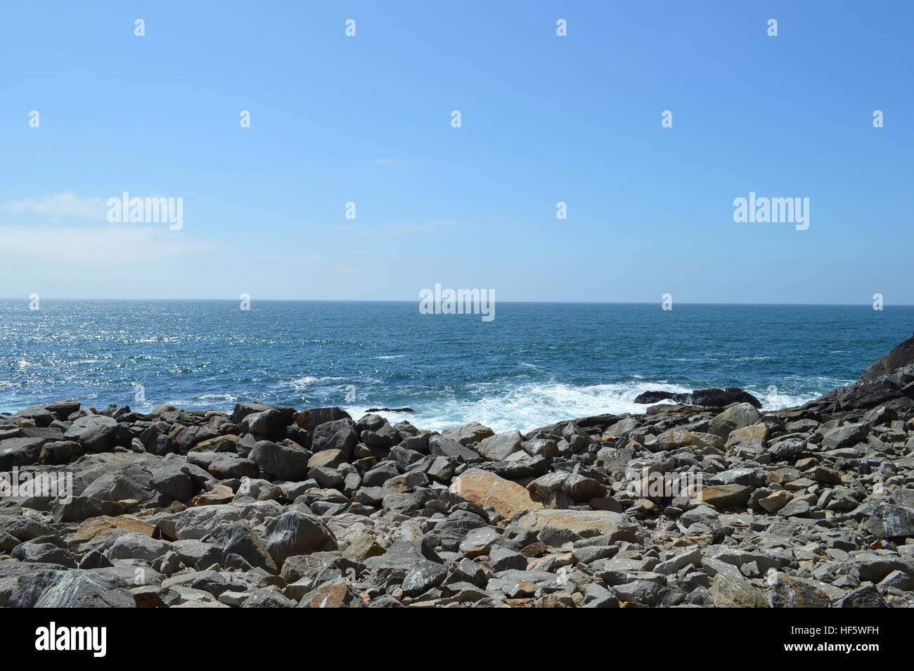 Water Meets Rocks - Stock Image