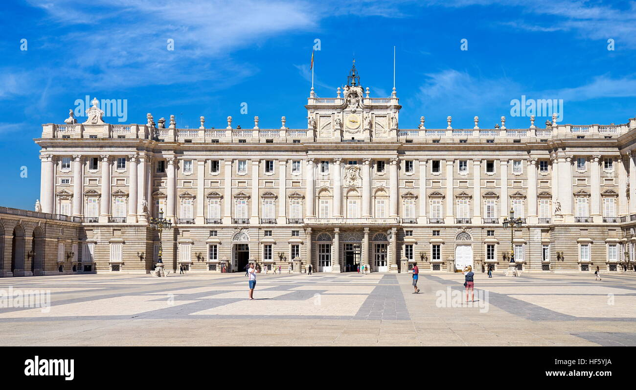 Palacio Real, Royal Palace, Madrid, Spain - Stock Image
